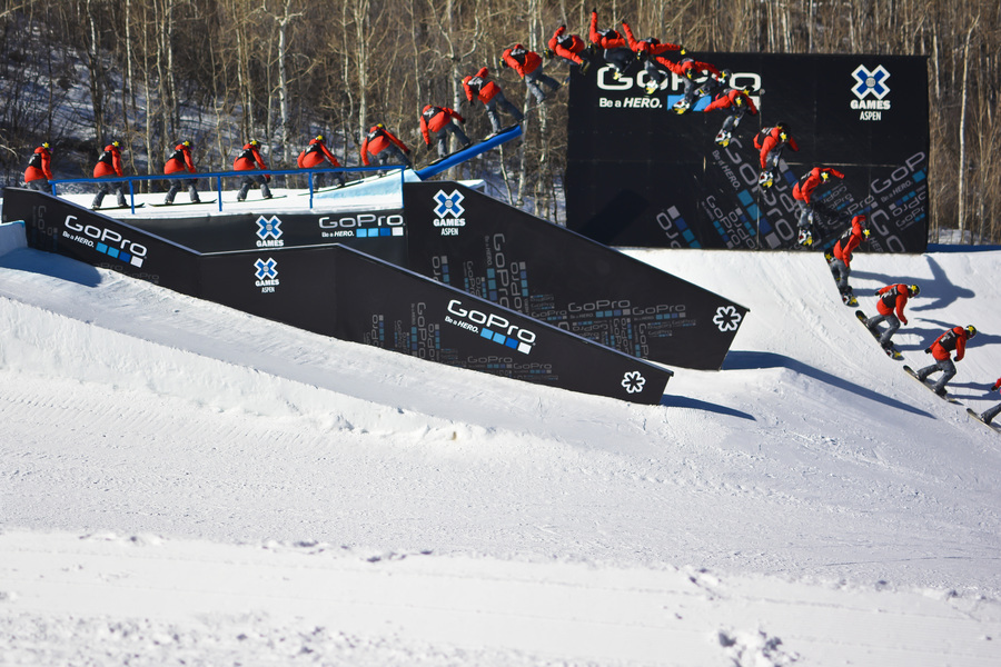 Chas Guldemond slopestyle sequence at 2014 Aspen X Games