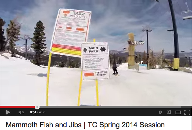 "Check out High Fives Foundation friends, Garrett Russell and Will Wesson in the new edit from Mammoth Lakes ""Mammoth Fish and Jibs 