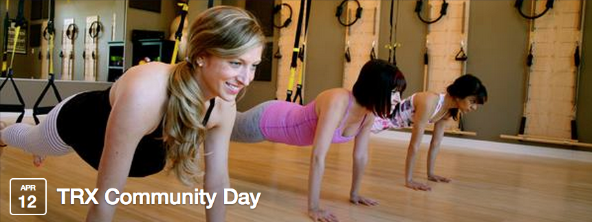 Join the TRX Training Community Day at the CR Johnson Healing Center (Sat. 4/12/14) http://goo.gl/bYtqbx