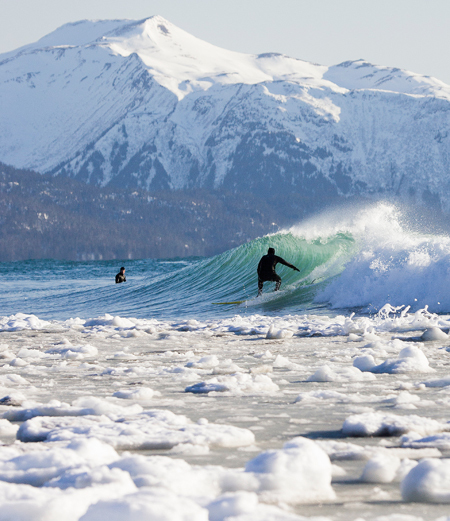 Really cool ( ?!) places to go surf. Cold water surf is an amazing experience, and they have non of the limitations that bad weather can bring... look at this guys in Alaska! http://www.bahighlife.com/Curious/The-topsy-turvy-travel-planner-Alaska-for-surf