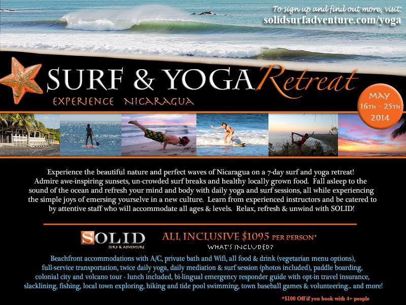 Our friends @solidsurf  are hosting their first SURF & YOGA RETREAT this coming May 16th - 25th. They will have some killer instructors so sign up for this limited time event at www.solidsurfadventure.com/yoga!