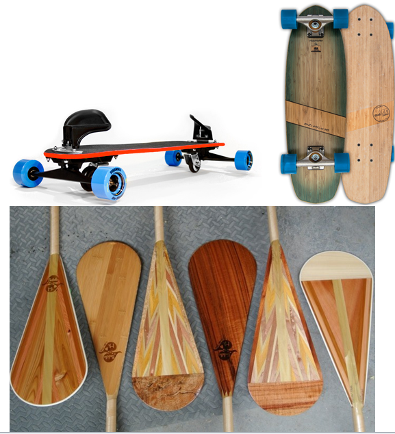 We've got some new brands up in the marketplace! Check out Freebord, Natual Log Skateboards, and Paddle Hawaii