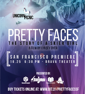 So Stoked! Get your tickets for the San Francisco Premier of Pretty Faces coming at ya October 25 @6:30 PM - I'll be there - will you?
