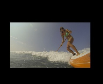 Donica cutting it close. @gopro paddle mount frame grab