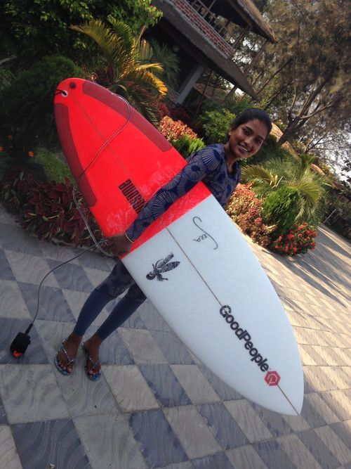 Check out Heather Kessinger, the Director of The Most Fearless, blog where Molly Celaschi posts about Nasima and her new GoodPeople Surfboard made by @awesomesurfboards