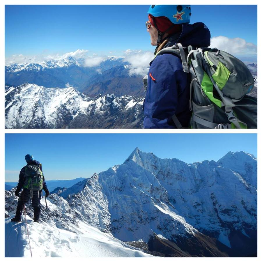 Got these pics from James Lissy using his Divide in Peru. One on the summit of Cerro Soray (17,863 ft.) and another on Salkantay (20,574 ft.). Amazing. Thanks for sharing.