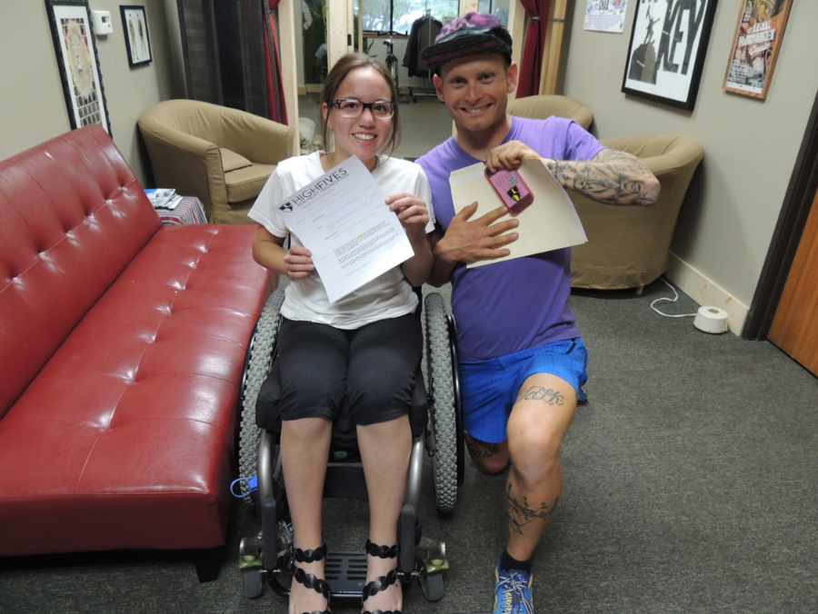High Fives to Sophie Coudurier on Her Board-Approved Grant to Receive Five Weeks of Physical Therapy at Beyond the Chair! Learn more here: http://goo.gl/pNCeMW