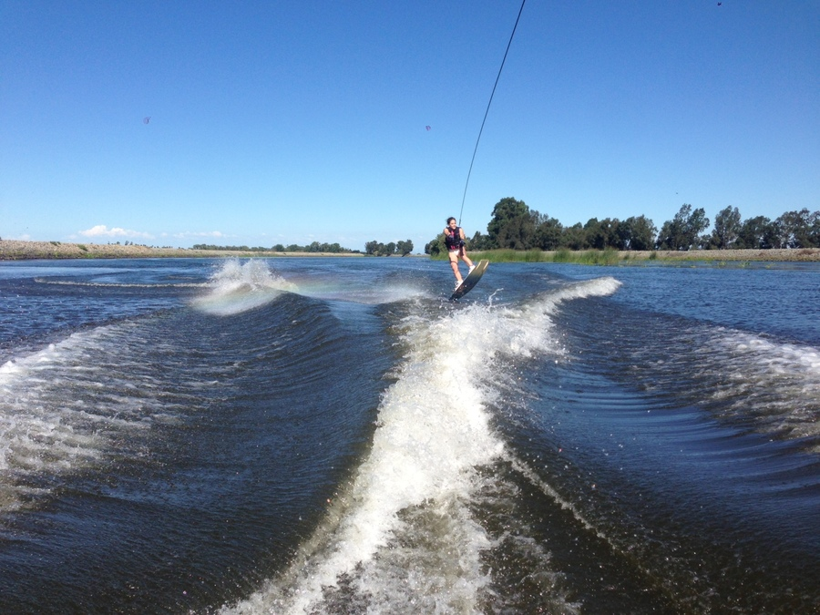 Wakeboarding on the Delta this weekend.