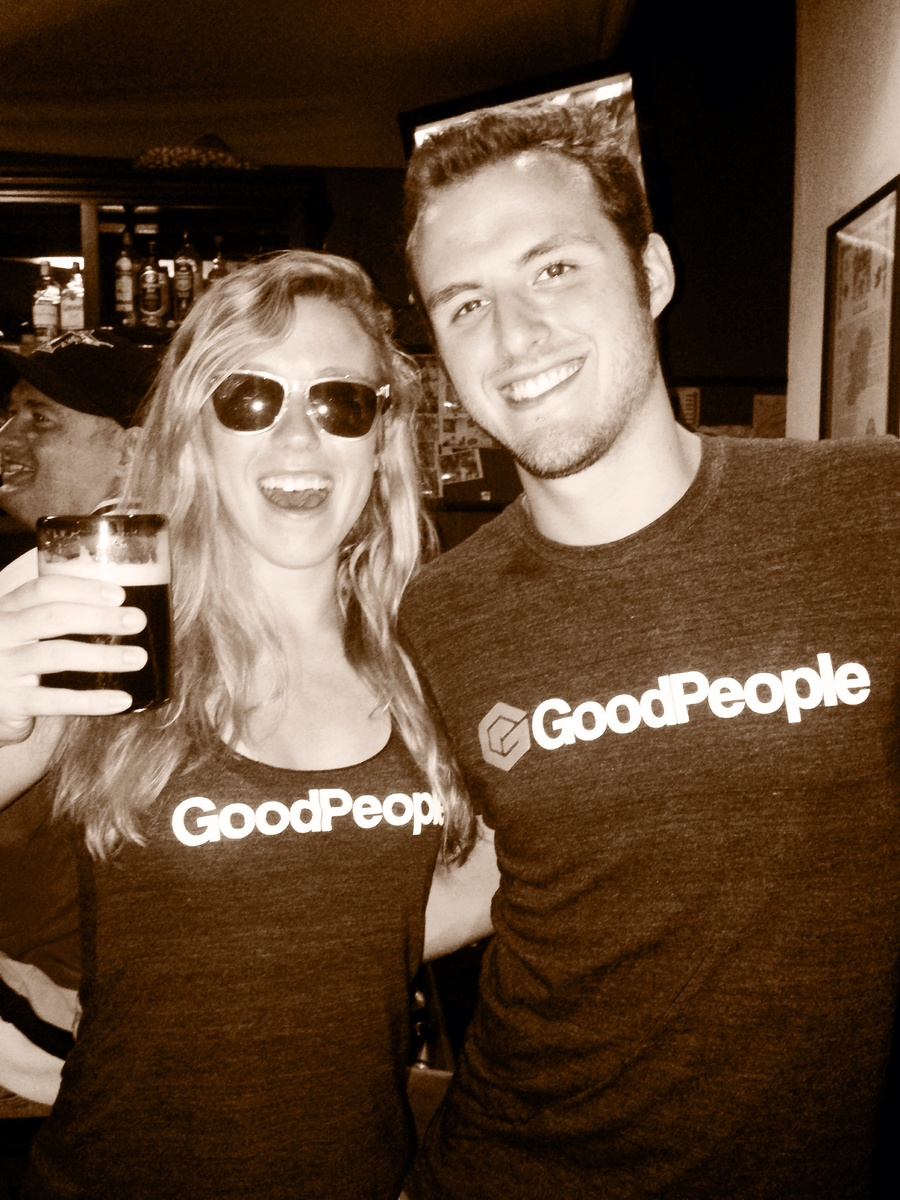 Showing off the Goodpeople on St.Patricks in Puerto Vallarta, Mexico! Cheers to you good people!