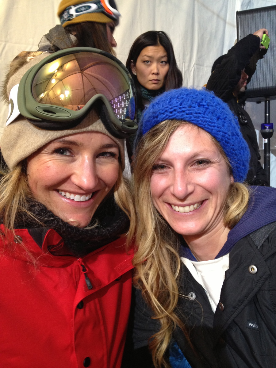 Great to meet one of snowboarding's legends, Gretchen Bleiler, and get to see her last run in the X Games pipe - stoked to see what's next for her in the snowboard world.