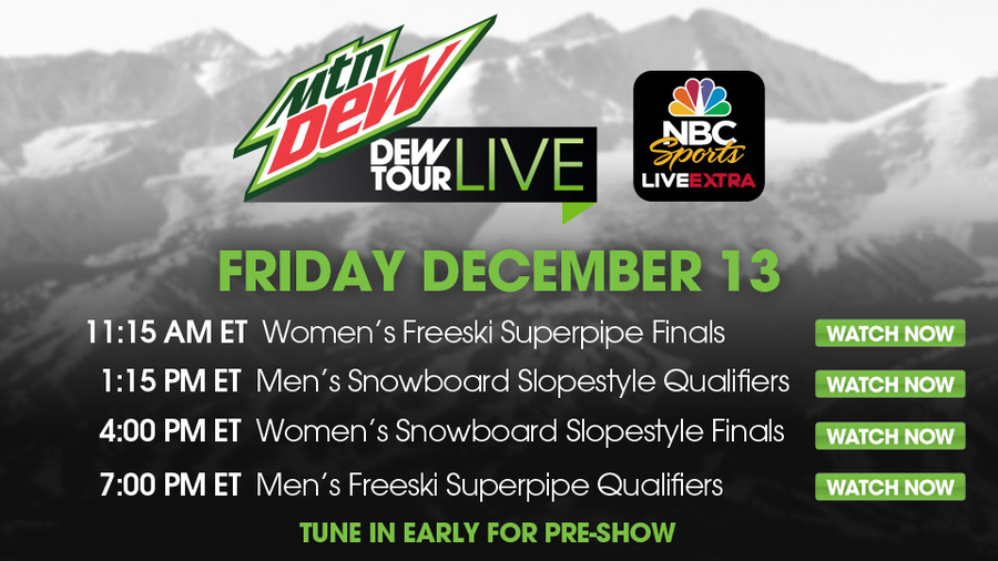 Here's what's going on today at the Dew Tour