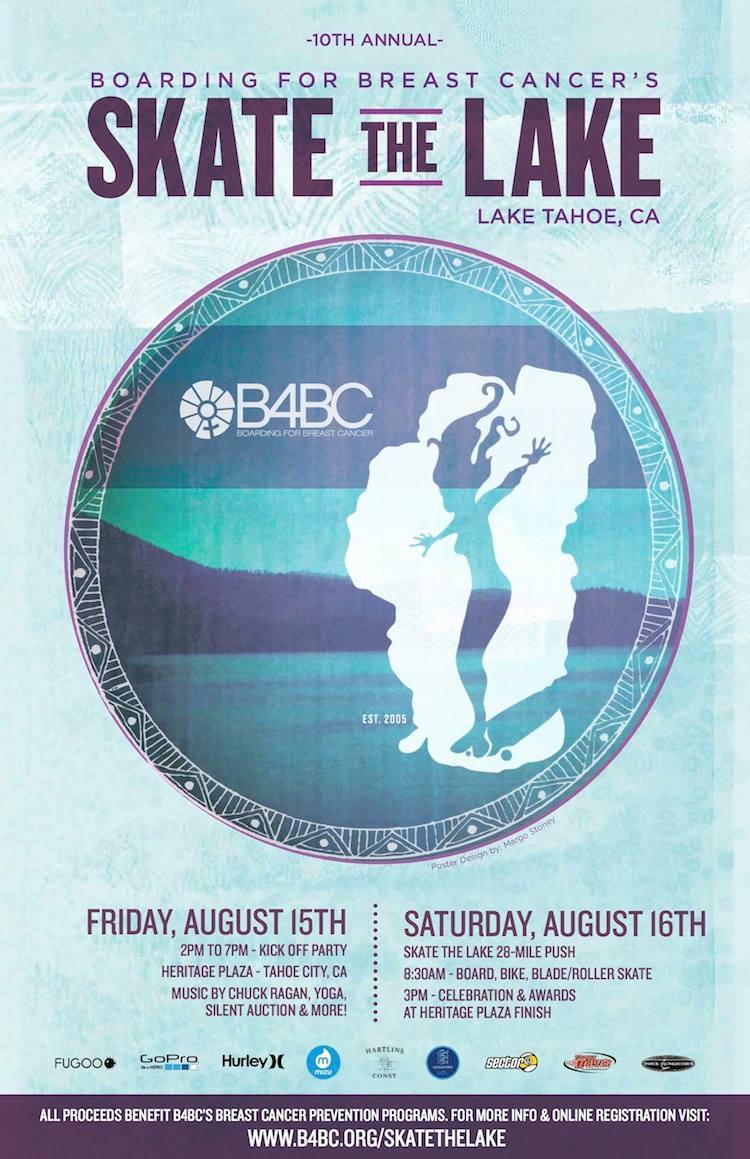 Skate the Lake is this weekend! We'll be there skating 28-miles around Lake Tahoe promoting an active lifestyle while raising awareness & funds for @b4bc's  education & prevention programs! For more details: http://b4bc.org/skatethelake/