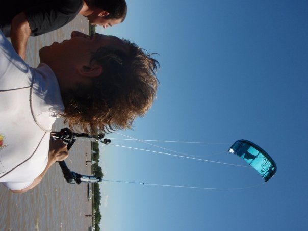 kiteando desde uruguay a bs as en kite!