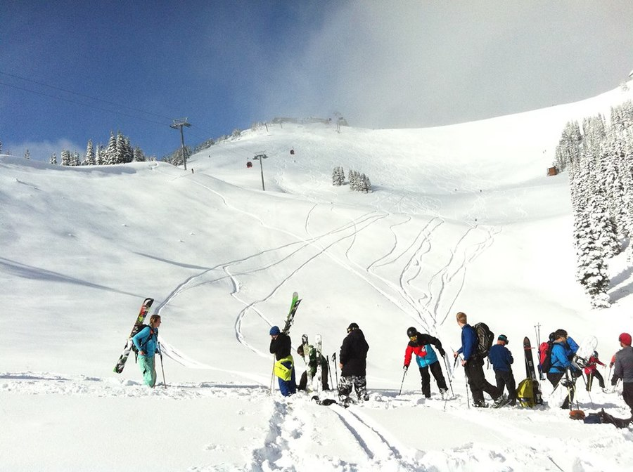 This is why social networking matters: Crystal Mountain opened up on 10/1 for an unbelievable day of shredding fresh powder for a select group of their lucky Facebook fans.