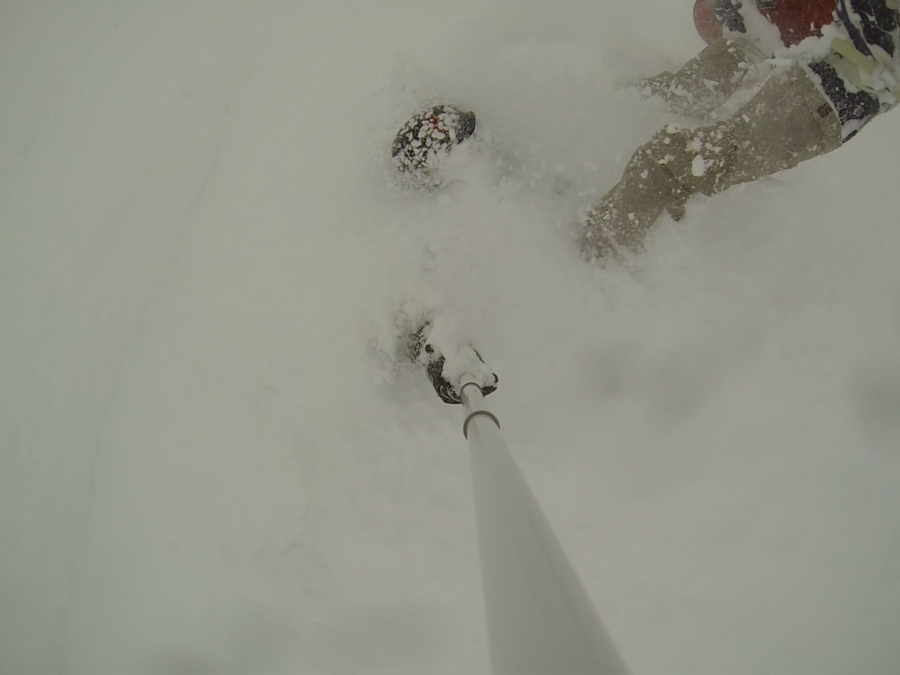 Today was sooooo good at #Vail! Had a great time riding with @Millsy and @rachshredgnar #notalwaysahero #gopro