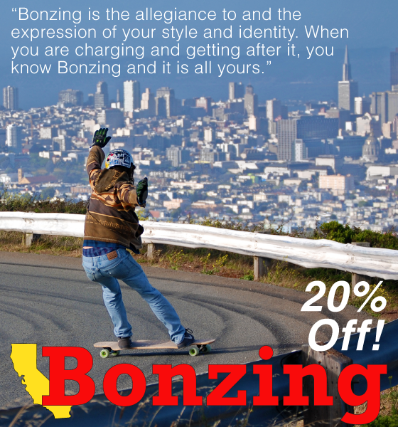 All @bonzingskateboards are 20% off with the code Bonzing20 in the spirit of community!