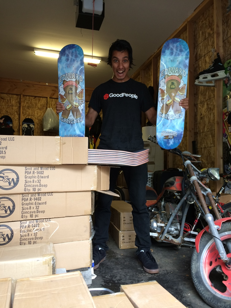Edward Sanchez pro model decks make him happy. 