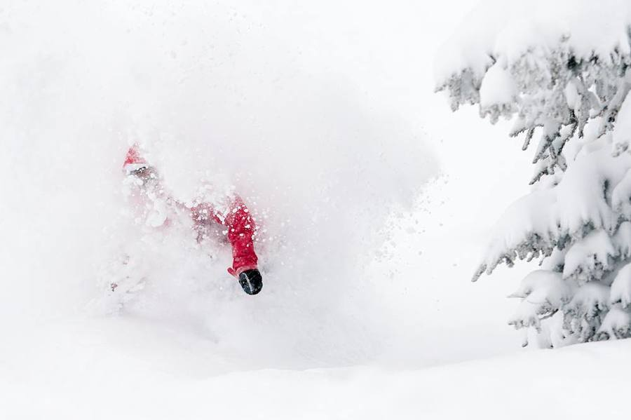 Colorado is in a deeeep snow cycle with over 30 inches of the white stiff falling at Vail - Welcome to the White Room! Photo Daniel Milchev Snowboarder Kyle Niehouse