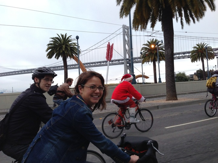 20 year Anniversary of Critical Mass bike ride in SF.