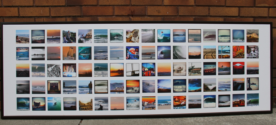Ocean Beach Surf just donated this awesome canvas to be raffled off at Outdoor SF. It's a collage of images that represent the world of ocean beach as seen through the eyes of surfers living in the neighborhood or surfing there regularly.