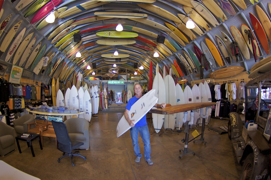Next time you are in San Diego you have to check out Bird's Surf Shed! Not only does he have an amazing collection of boards but he'll also sell you what you need, not what you want - which is a good thing