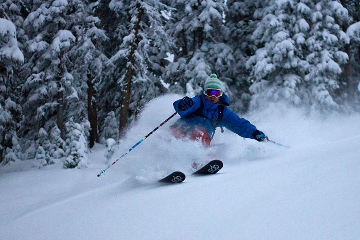 The folks at Earlyups are doing the powder thing in the Tetons on Halloween. Trick or treat, amigos!