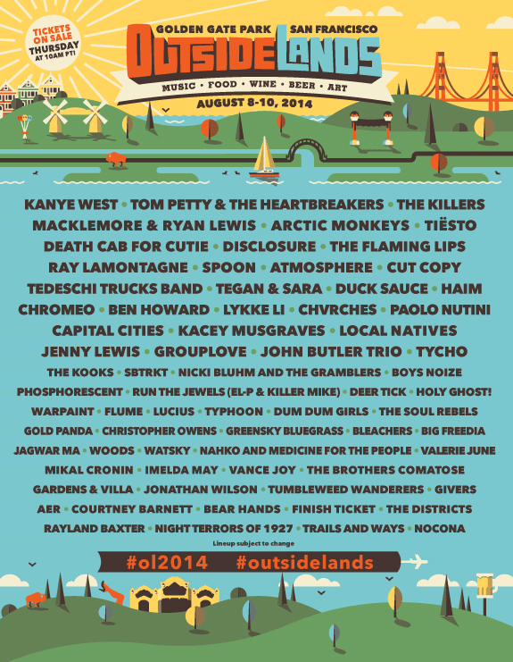 Outside Lands! Boom! Can't wait!