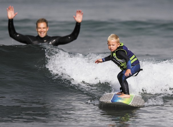 Check out this lil grom! 3 and already shredding!