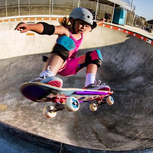 How awesome is 8 yr old Annika Vrklan doing a Frontside Ollie? We met this lil grom at the X Games and she just blows our mind. Photo Credit: @jamiemosberg