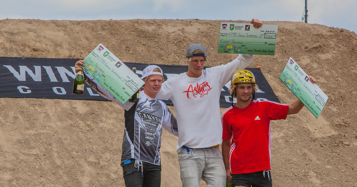Winners of the mountain bike slopestyle.