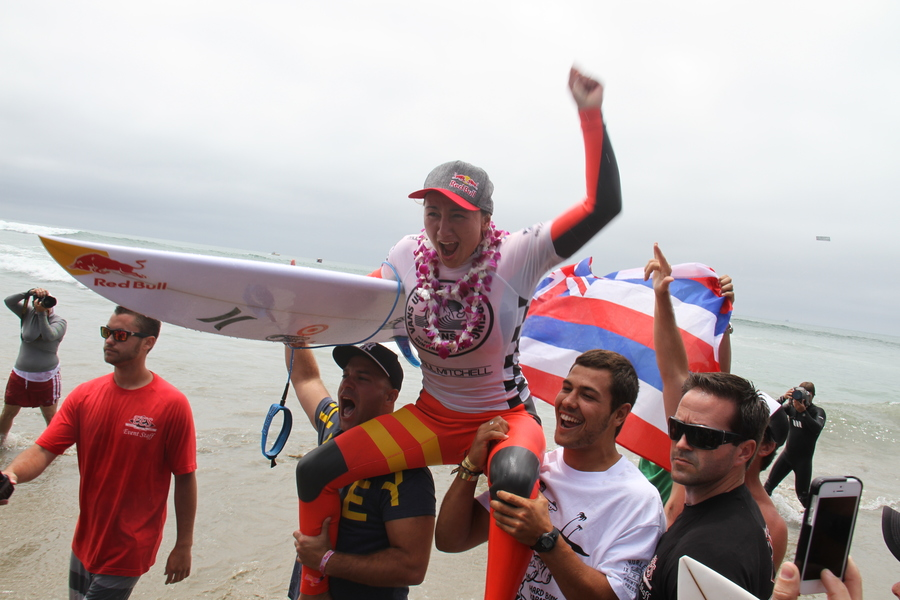 Carissa Moore was stoked to win the Vans US Open of Surfing Title, as she should be! She ripped!