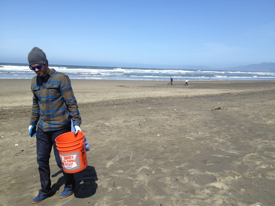 Spent Saturday cleaning up Ocean Beach with a great crew of people. There was so much crap everywhere that it really reminds you how conscious we all need to be about packing out all our garbage.