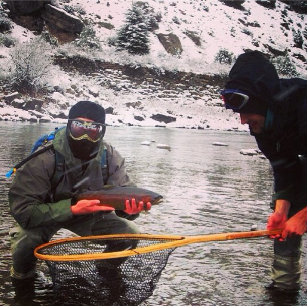 It's #MountainMen #Monday at the #mountainlifeco #spring #flyfishing in the #EagleRiver in #Avon #Vail #Beavercreek #Minturn #Angling What's Your #MountainLife? Show us #climbing #hiking #skiing #snowboarding #cycling #mountaineering #flyfishing