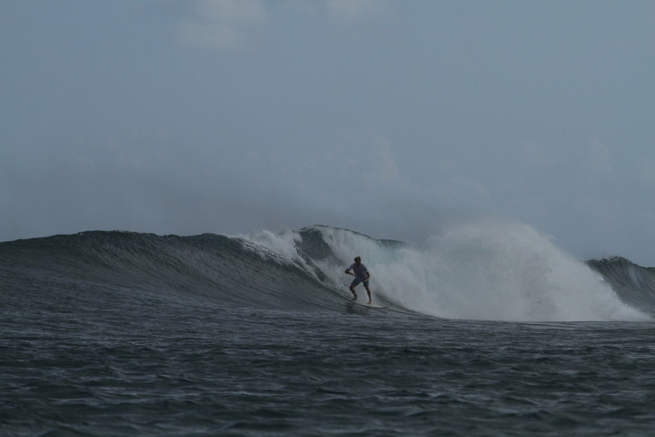 A 2 week stop in the southernmost atoll in the Maldivas..plenty of coconuts and surf in paradise