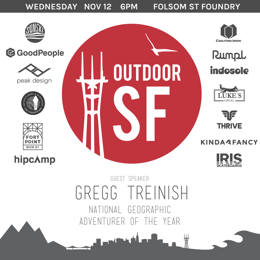 We are are so stoked for the 2nd Annual Outdoor San Francisco. It's gonna be a fun night of music, beer, food, and celebrations of the outdoors. Grab your tickets before we sell out! http://www.eventbrite.com/e/outdoor-sf-tickets-13831441213