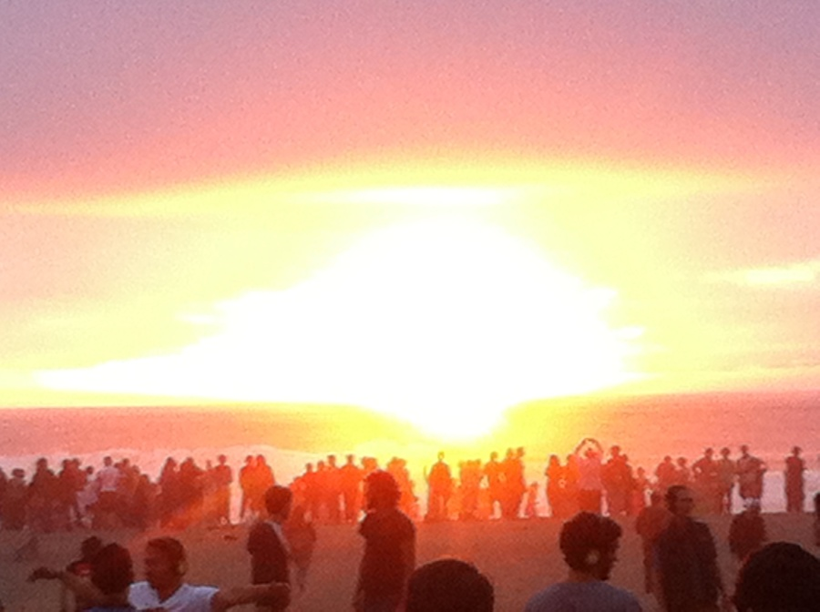Some GoodPeople enjoying the sunset at Silent Frisco on OB.