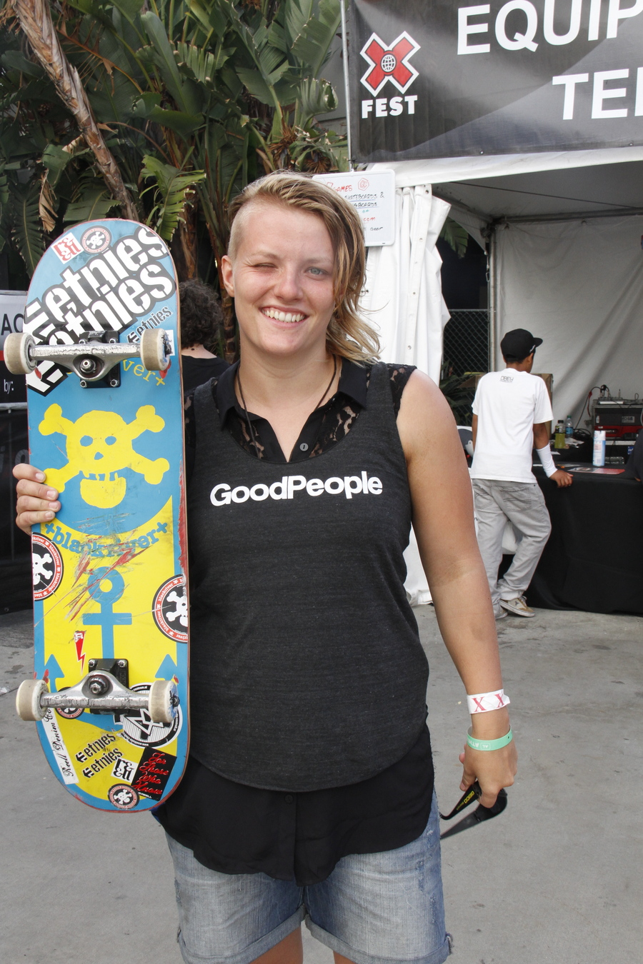 Pro Skater Candy Jacobs stopped by the GoodPeople interactive park to skate with the ladies, she is super cool!