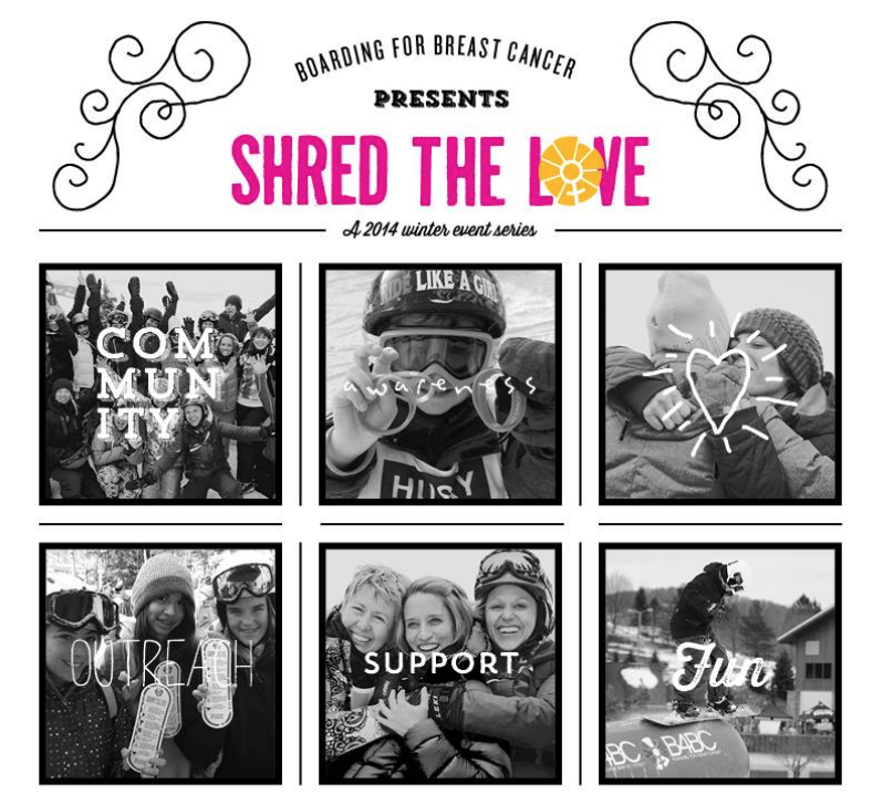 Shred the Love for B4BC at Sugar Bowl Resort this Saturday! Help promote early detection and prevention of breast cancer. Join in and support here: http://ow.ly/vmuEN