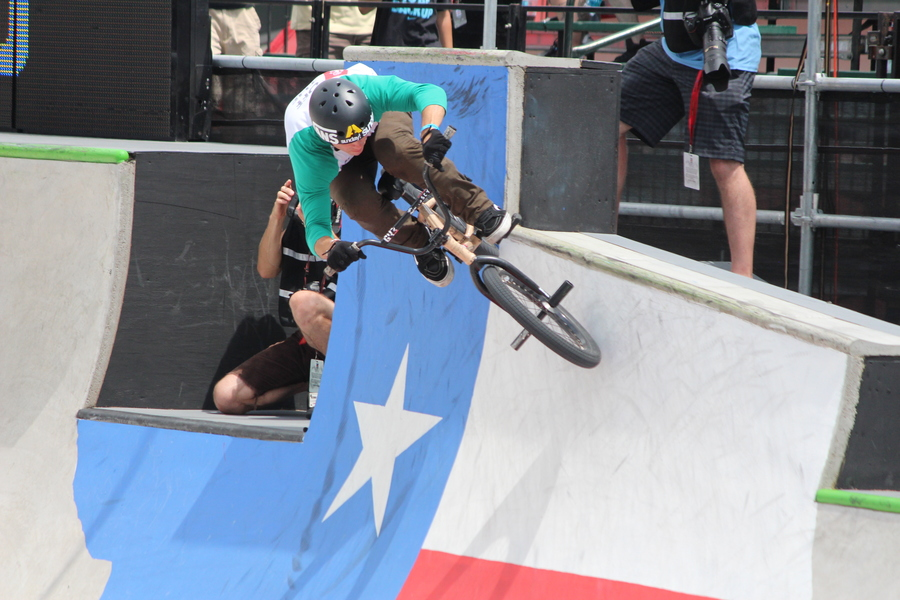 Looking through pictures I took from X Games Austin 2014 of mens bmx finals with Gary B Young riding the Texas state ramp, awesome event and can't wait for next year!