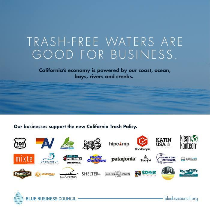 Trash-free waters are good for business! And that is why we're a part of a crew of businesses urging California to adopt a Trash Policy that will ensure clean beaches and a thriving coastal economy #BlueBizCouncil