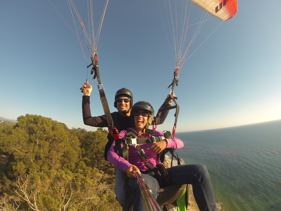 Had an epic day doing some tandem paragliding in Santa Barbara, CA.