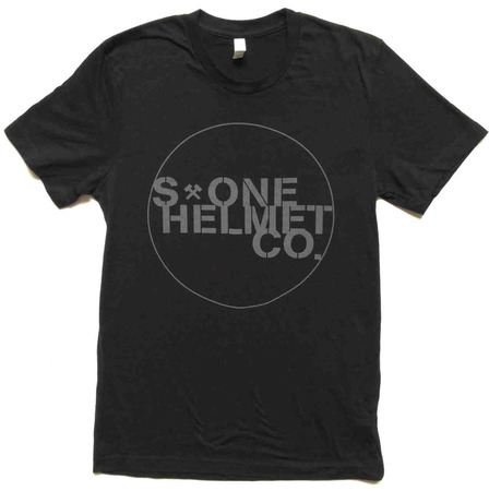 Tees - S1 Helmets S-ONE Helmet Co. Seal Logo T-Shirt - Black