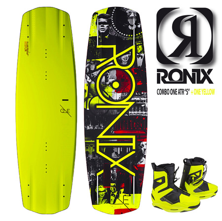 "Tablas - 10Deep Combo RONIX One ATR ""S""  c/ One Boot Yellow"