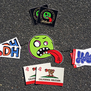 More - Holesom Longboards Sticker Pack