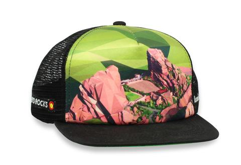 Ball Caps & Snapbacks - Kind Design Red Rocks Polyrado Trucker Cap