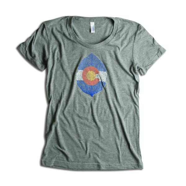 Tees - Kind Design CO Aspen Leaf T-Shirt (women)