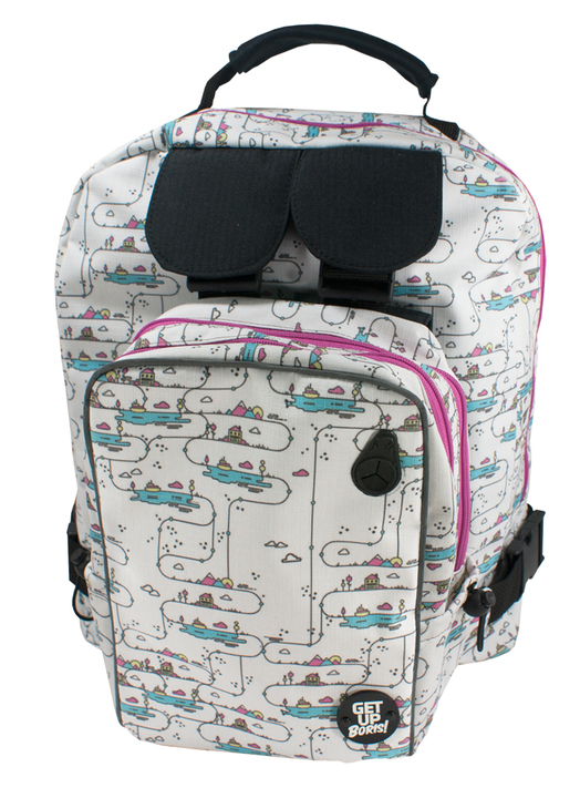 Mochilas - Get Up Boris! Mochila para Rollers Happy Place