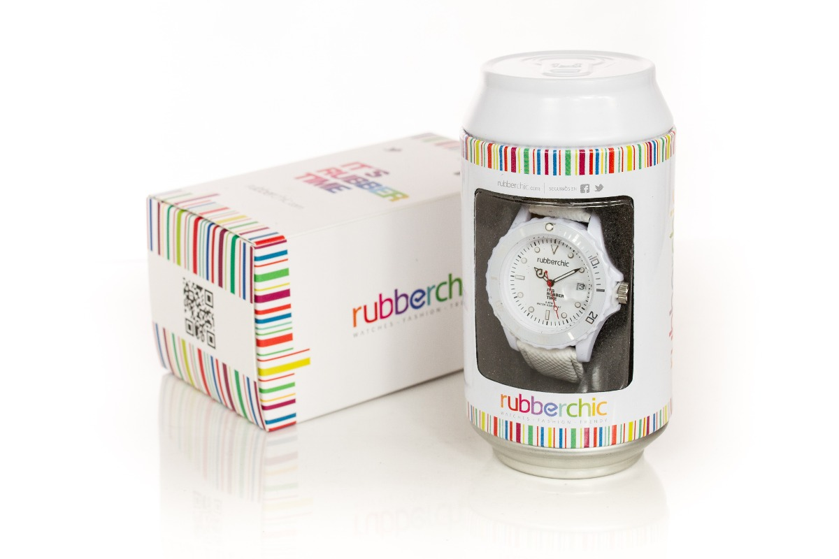 Relojes - Rubberchic Reloj Basic Leather White 48mm