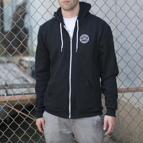 Zip Hoodies - Concrete Coast Patch Hoodie Black