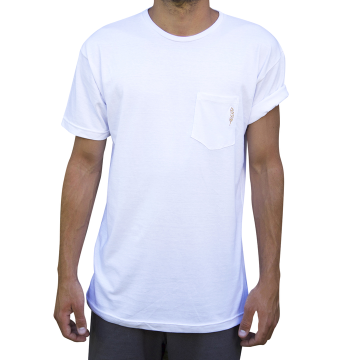 Mangas Cortas - Niveria Remera White-Pocket